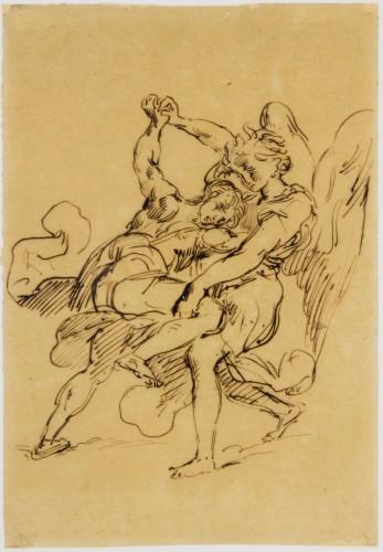 1-Jacob Wrestling with the Angel, Eugène Delacroix- RMN-Grand Palais musee du Louvre  Gerard Blot-jpg