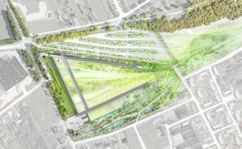 3.vue aérienne du projet_centre de conservation Louvre à Lievin (c) Rogers Stirk Harbour+Partners Mutabilis.jpg