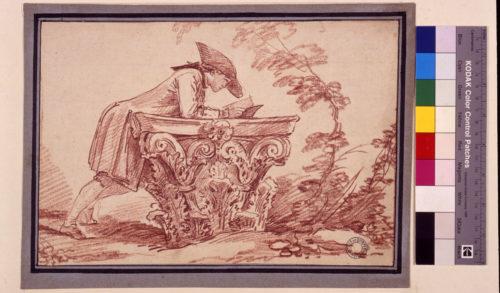 9. Jeune homme lisant sur un chapiteau.jpg