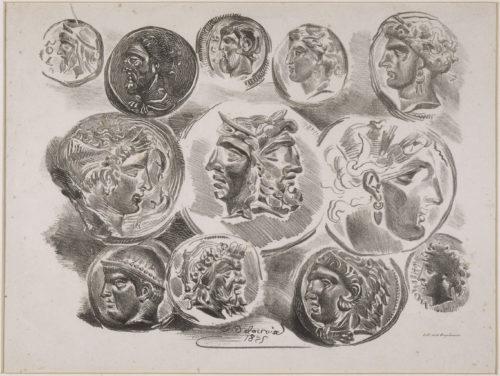 7-Feuille de douze médailles antiques.jpg