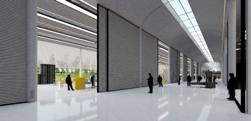 6.couloir de circulation des oeuvres_centre de conservation du musée du Louvre à Liévin (c) Roger Stirk Harbour+Partners.jpg