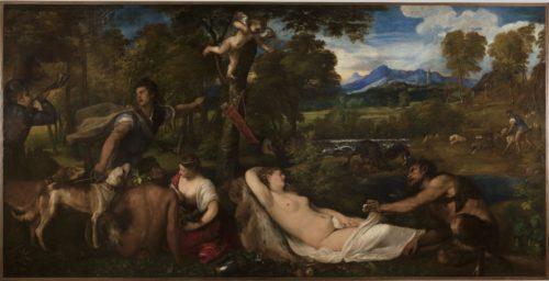 Titien, <i>Jupiter et Antiope </i>, dit <i>La Vénus du Pardo</i>, APRÈS RESTAURATION. Paris, musée du Louvre