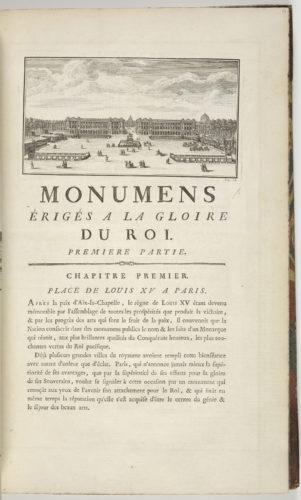 18_Edme Bouchardon. Vue d'ensemble de la place Louis XV, Monuments érigés en France à la gloire de Louis XV