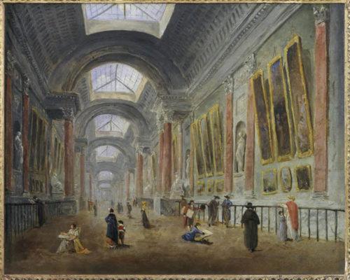 16_ Guiseppe Castiglione, Le Salon Carré au Musée du Louvre.jpg