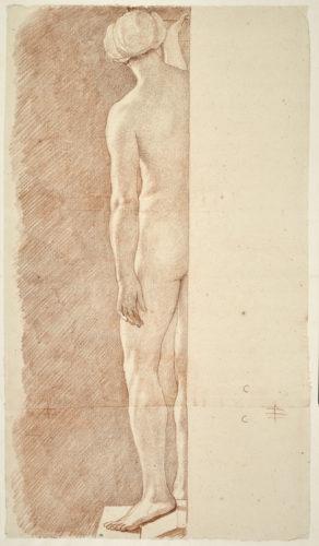 20_Edme Bouchardon, Femme nue de dos, bras gauche le long du corps