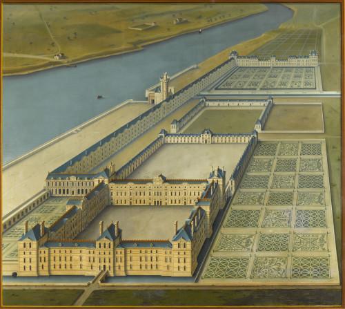 11_Louis Poisson, Vue cavalière du Grand Dessein du Louvre.jpg