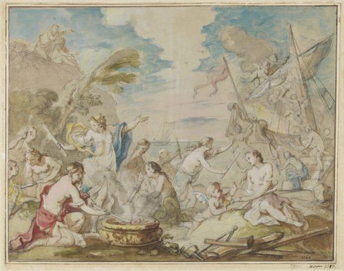 5_Natoire_Les nymphes de Calypso incendiant le navire de Télémaque.jpg