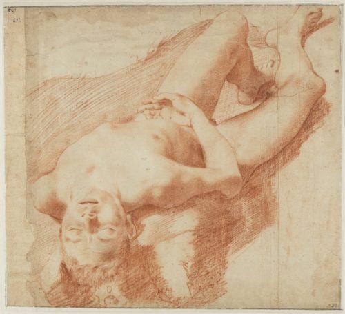 9_Annibale Caracci_Etude d'un jeune homme nu allongé sur le dos_Nationalmuseum Stockholm (c) Cecilia Heisser_Nationalmuseum.jpg