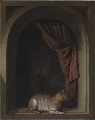 6_Gerrit Dou_Cat Crouching on the Ledge of an Artist's Atelier(c) New York_The Leiden Gallery.jpg