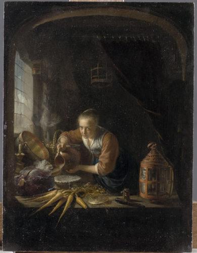 19. Dou_A kitchen Maid pourring water into a jar(c)RMN-Grand Palais (Musée du Louvre) / Tony Querrec.jpg