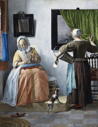 4. Metsu_Jeune femme lisant une lettre(c)Dublin, National Gallery of Ireland.jpg