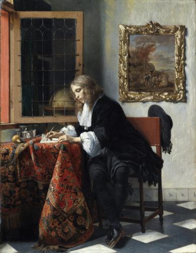 3. Metsu_Jeune homme écrivant une lettre(c)Dublin, National Gallery of Ireland.jpg