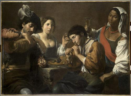 3_Valentin De Boulogne_Gathering In A Tavern (The Guileless  Musician)_Département Des Peintures, Musée. Valentin De Boulogne ...