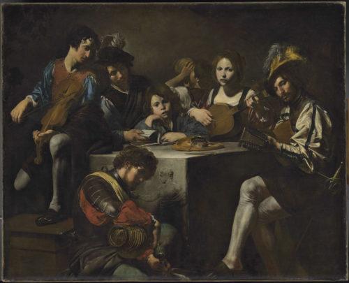 11. Valentin de Boulogne. Concert au bas-relief. Département des Peintures, musée du Louvre © RMN-GP _musée du Louvre_ Adrien Didierjean.jpg