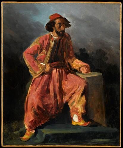 8_Eugene Delacroix_Turc assis_portrait présumé du chanteur Baroilhet (c) RMN Grand Palais_ musée du Louvre_Tony Querrec (2).jpg
