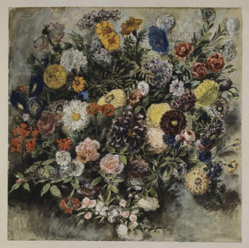 Eugène Delacroix, Bouquet of Flowers, watercolor © RMN-Grand Palais (Musée du Louvre)/Michèle Bellot