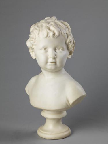 1_Jean Antoine Houdon, Buste en marbre d'Anne Ange Houdon