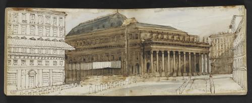 10. Dauzats_Album, Vue de Bordeaux © Musée du Louvre, dist. RMN - Grand Palais / Marc Jeanneteau