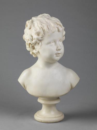 3_Jean Antoine Houdon, Buste en marbre d'Anne Ange Houdon