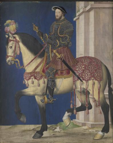 Jean Clouet, Equestrian Portrait of François I, Musée du Louvre