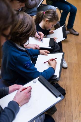 Atelier « Initiation à la Lithographie » © 2013 musée du Louvre / Olivier Ouadah