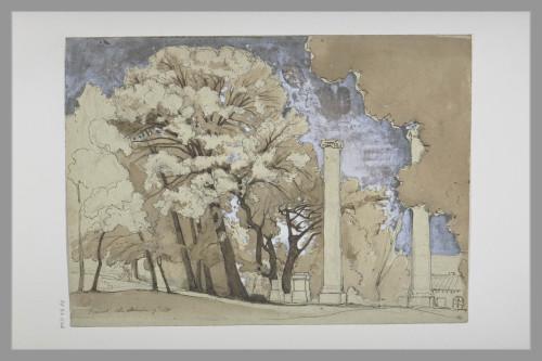 2_Achille Bénouville, Vue de Frascati, 1840