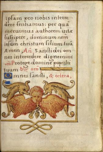 7_Livre dheures de Francois Ier page du manuscrit  S-J Philips-jpg