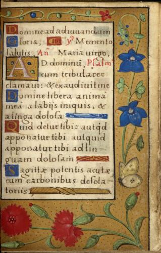 6_Livre dheures de Francois Ier page du manuscrit  S-J Philips-jpg