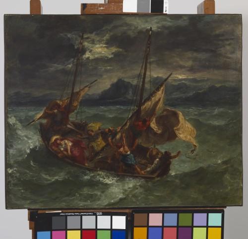 22_Eugène Delacroix, Le Christ sur le lac de Génésareth-tif