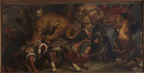 19_Eugène Delacroix, Chasse aux lions-jpg