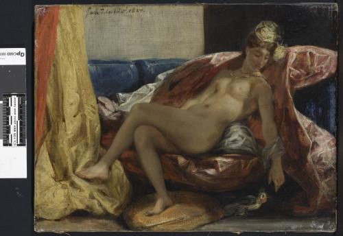 3_Eugène Delacroix, Femme nue au perroquet-jpg