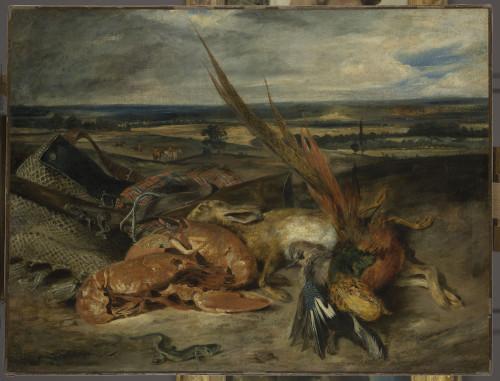 8_Eugène Delacroix, Nature morte au homard-jpg