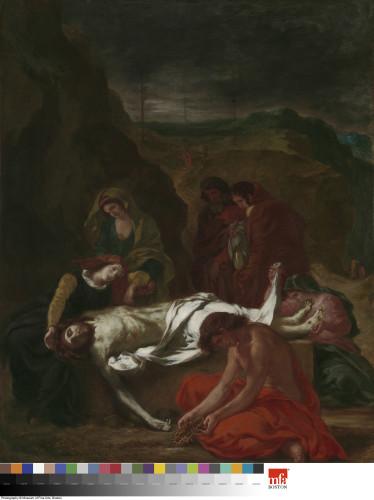17_Eugène Delacroix, Le Christ au tombeau-jpg