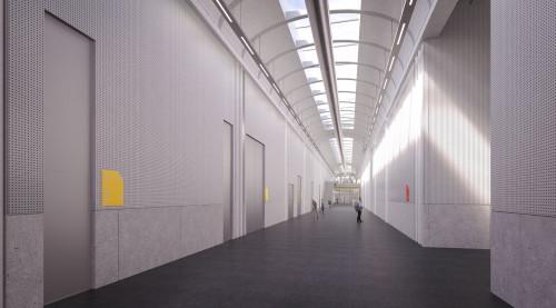 4-Centre de conservation du Louvre- Couloir de circulation des oeuvres c RSHP-jpg