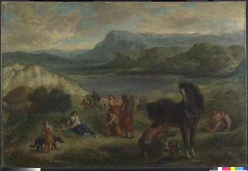24_Eugène Delacroix, Ovide chez les Scythes-jpg