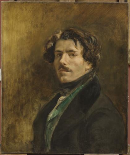 13_Eugène Delacroix, Autoportrait au gilet vert-jpg