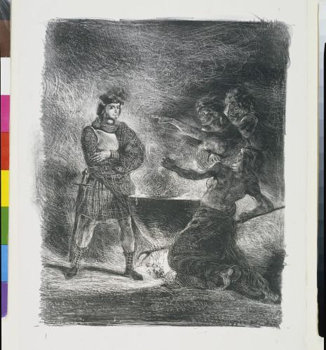 7_Eugène Delacroix, Macbeth et les sorcières (premier état, avant la lettre et avant la signature)-jpg
