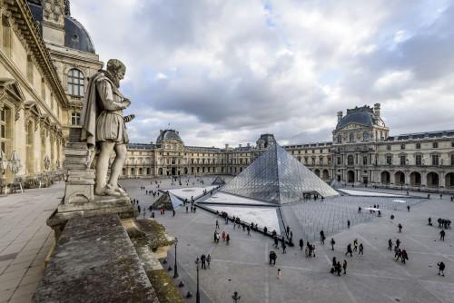 Vue de la Pyramide (c) Musée du Louvre, dist. RMN-Grand Palais / Olivier Ouadah