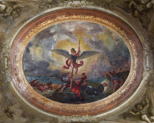 Saint Michel terrasant le demon Eugene Delacroix  - Claire Pignol-jpg