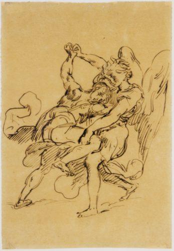 1-Combat de Jacob avec lange Eugene Delacroix - RMN-Grand Palais musee du Louvre  Gerard Blot-jpg