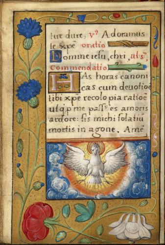 9Livre dheures de Francois Ier page du manuscrit  S-J Philips-jpg