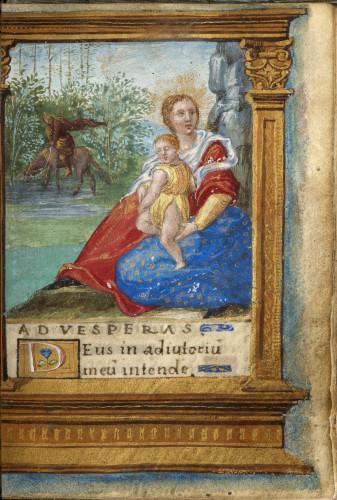 8Livre dheures de Francois Ier page du manuscrit  S-J Philips-jpg