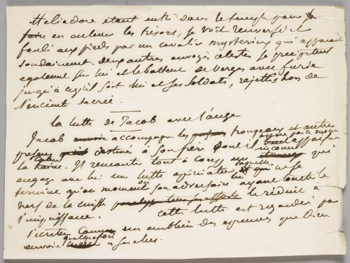 Note autographe Eugene Delacroix - RMN-Grand Palais musee du Louvre  Mathieu Rabeau-jpg