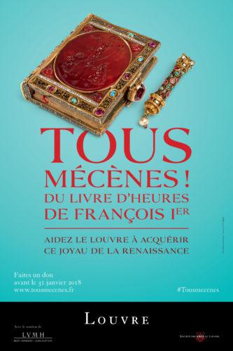 Affiche Tous mécènes Livre d'heures de François Ier-jpg