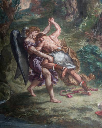 2-Jacob Wrestling with the Angel, Eugène Delacroix - Claire Pignol-jpg
