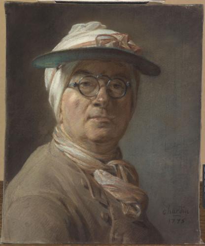2_Chardin_Autoportrait à l'abat-jour et aux lunettes_Musée du Louvre © RMN-Grand Palais (musée du Louvre) / Michel Urtado-jpg