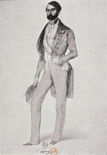 26. Denis-Auguste Raffet, Portrait de Giampietro Campana. Rome, 8 février 1850. Paris, BnF, Département des Estampes, Réserve DC-189(F)-Fol