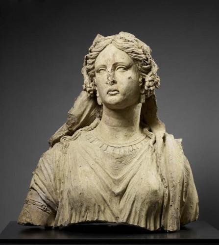 3. Buste d'Ariane, 3e siècle av. J.-C Falerii Novi, près de Civita Castellana. Musée du Louvre, département des Antiquités grecques, étrusques et romaines © Musée du Louvre