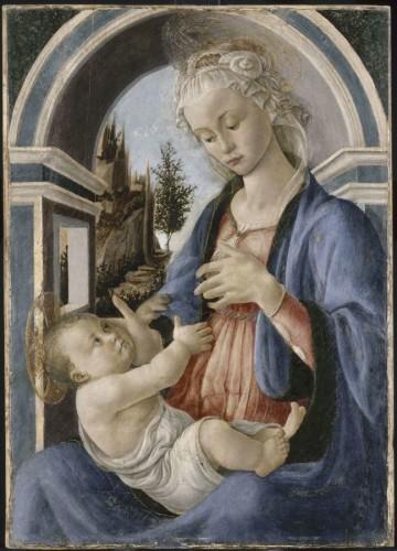 16. Sandro Botticelli, la Vierge et l'Enfant, Département des peintures, musée du Louvre ©  RMN Grand Palais (musée du Louvre)