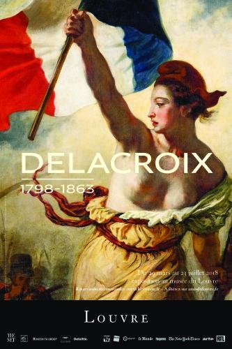Affiche exposition Delacroix